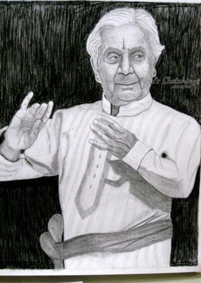 Pt. Birju Maharaj Sketch