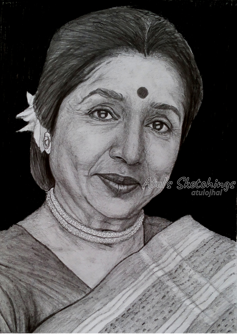 Asha Bhosle Sketch